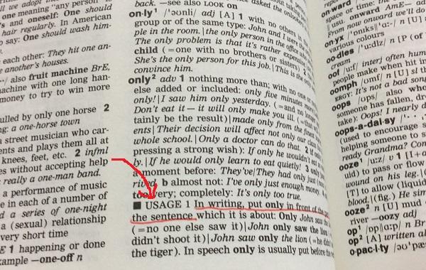 英英辞典をチェック